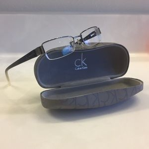 Calvin Klein Women's Grey Ombré Glasses